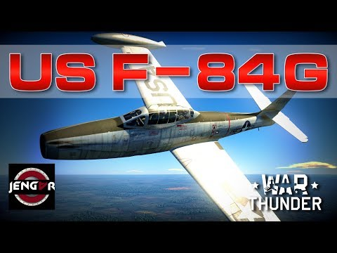 War Thunder Realistic: US F-84G-21-RE [Airfield Thunder!]
