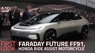 Honda Ride Assist Self-Balancing Motorcycle, Faraday Future FF19 First Look