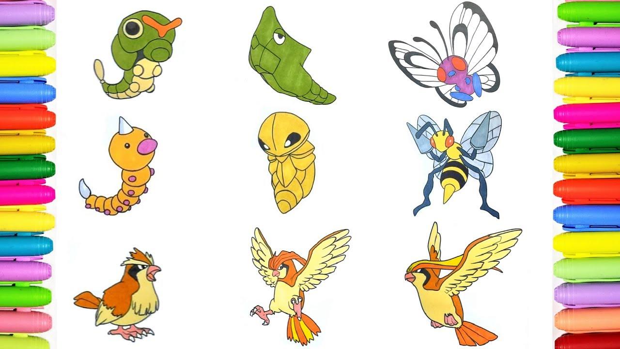 Pokemon Coloring Pages Pokedex 10 To 18