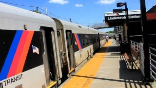 NJT Atlantic City Line: Train to 30th Street Station at Lindenwold RR Station (P40DC #4803)