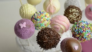 Cake Pops decorating ideas for birthday party