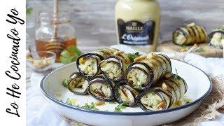 Rollitos de Berenjena Rellenos con Salsa de Mostaza | LHCY
