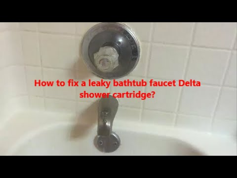 Bathroom Faucet Keeps Running how to fix a leaky bathtub faucet delta shower cartridge l how to