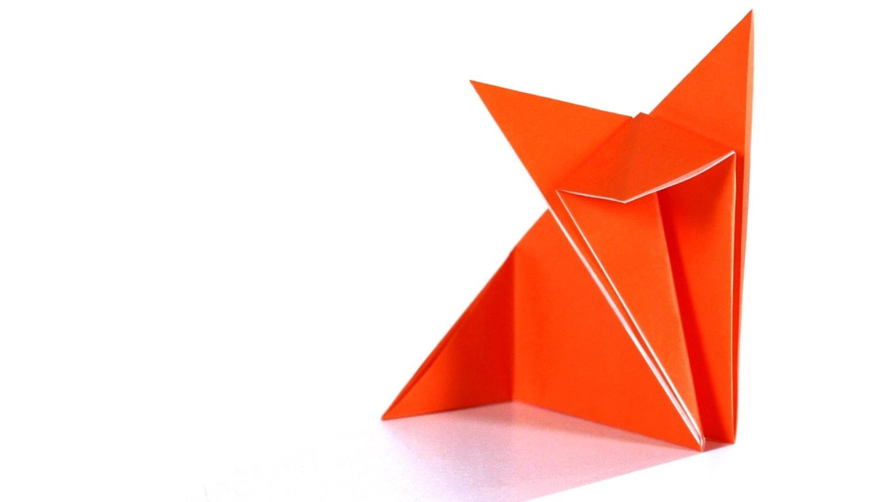 How To Make A Fox Origami Youtube 3d Swan Diagram Http Howtoorigamicom Origamiswanhtml