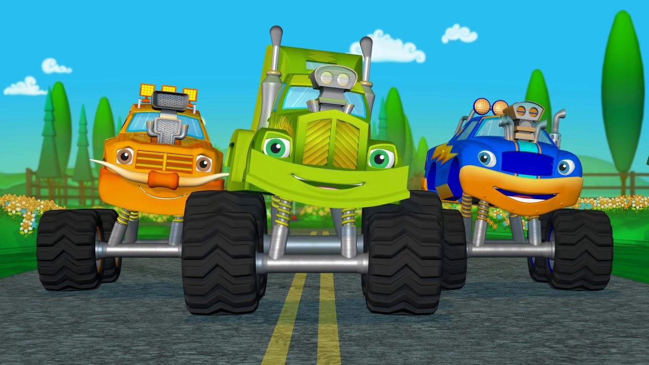 Learn Colors Monster Truck Race + Monster Truck ...