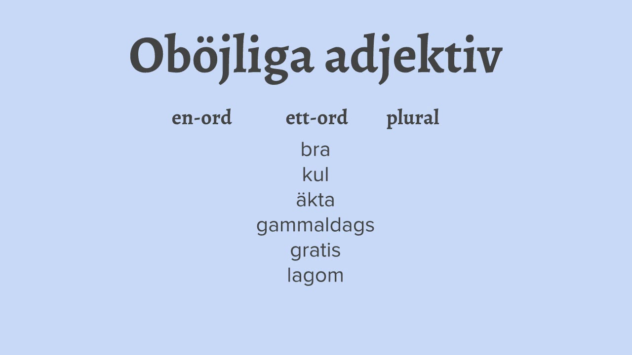 Grammatik - Lektion #6 Adjektiv