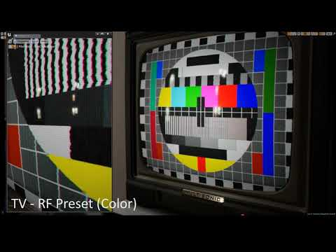 ArtStation - Animated CRT TV & VCR (VHS) Effects (Unreal