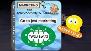 Szkolenie - film: Co to jest marketing? Marketing- zaspokojenie potrzeb