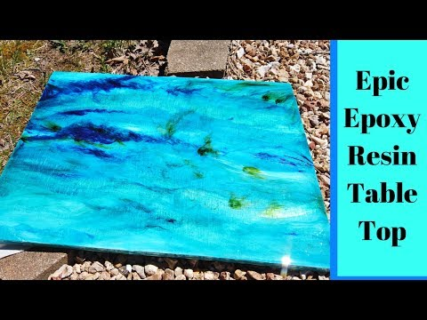 How I made this Epoxy Resin Table Top - for my Van/RV