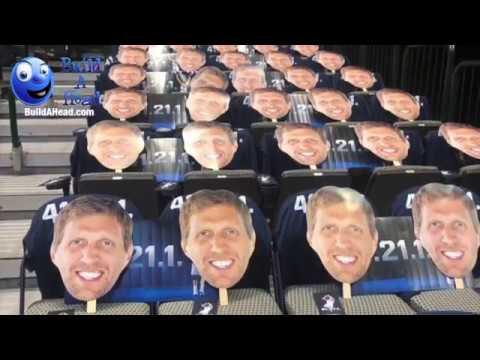 Build A Head >> Celebrating Dirk Nowitzki S Last Home Game Build A Head X Dallas Mavericks