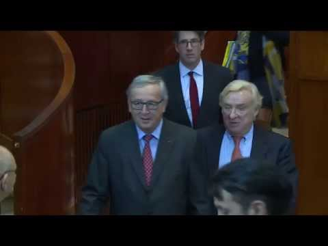 Visite de Jean-Claude Juncker, président de la Commission européenne, au CESE