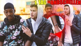 1. TAG lang in HANDSCHE*LEN mit fremder PERSON !..😱| STREET COMEDY | Denizon