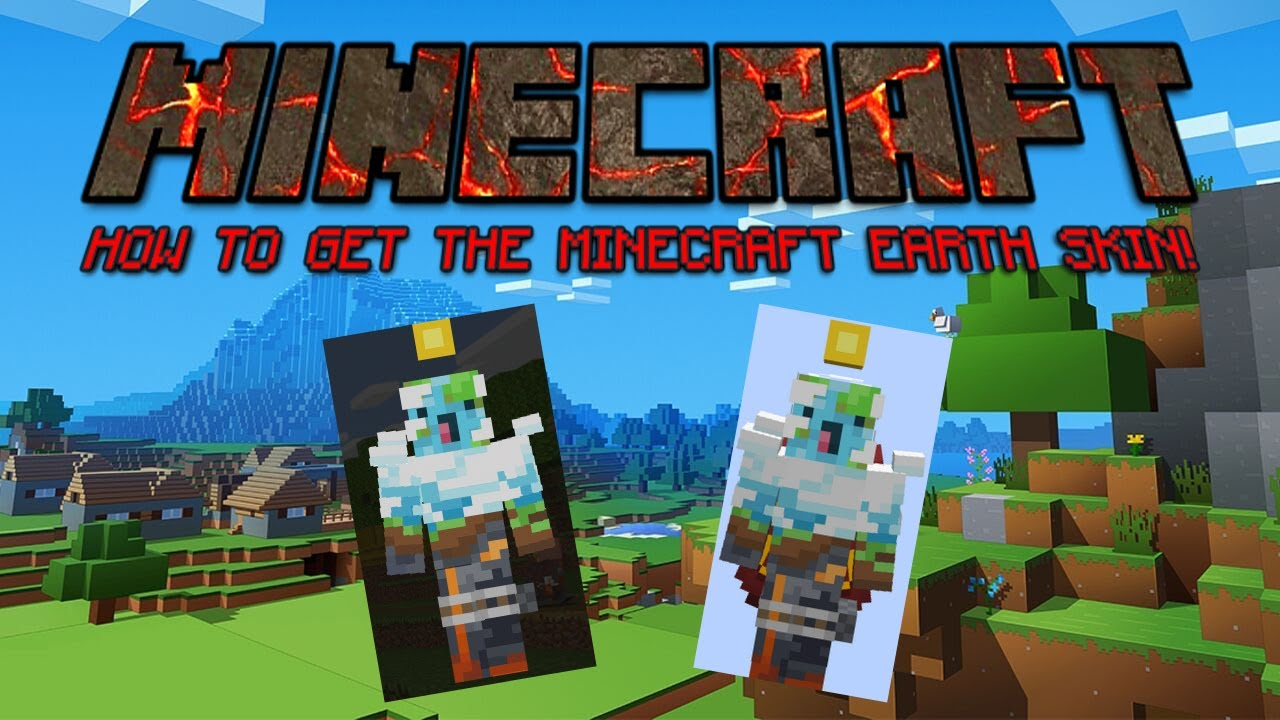 HOW TO GET THE MINECRAFT EARTH SKIN! IN MCPE AND WIN8!! (Bedrock