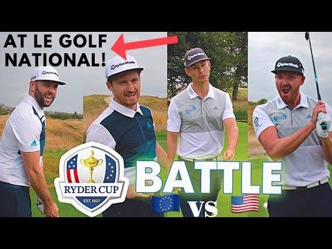 EPIC RYDER CUP BATTLE Vs ME & MY GOLF! 🇪🇺 Vs  🇺🇸 (At Le Golf National!) Ft Chris Ryan.