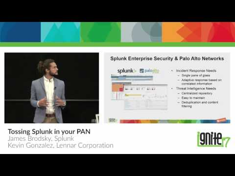Applied Security Orchestration with Splunk & Palo Alto Networks