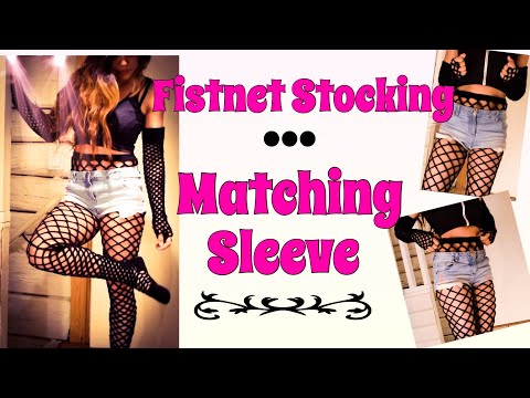 Crochet Sleeves: How To Crochet High Waist Fishnet Stocking Matching Sleeves For All Sizes