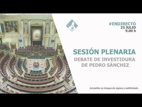Sigue en directo el Debate de Investidura de Pedro Sánchez