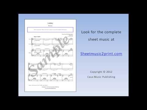 The Nutcracker : Lullaby - Violin Duet Sheet Music