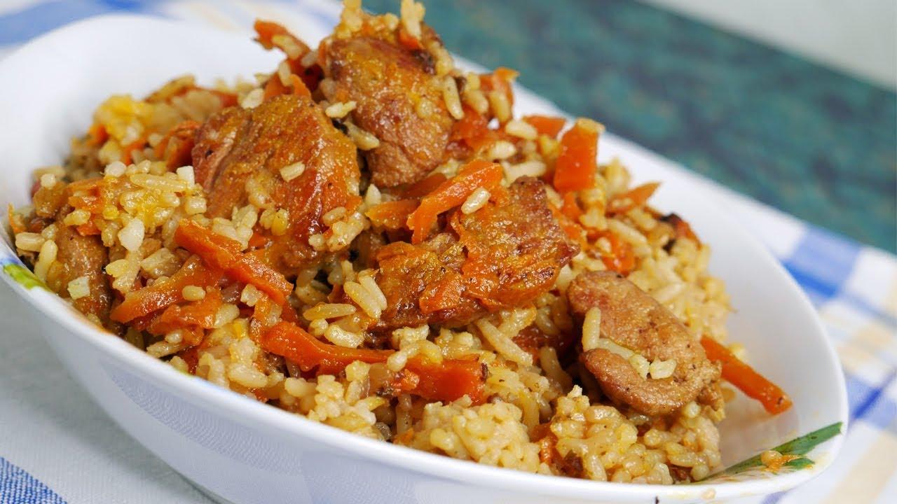 ПЛОВ. Как приготовить плов дома. Очень вкусный рецепт. Рассыпчатый рис.