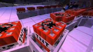 Minecraft: Xbox One Edition TNT with minecart test