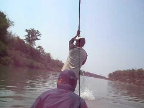 Net Fishing in Xebangfai River, Ban Navangtai, Laos 2009
