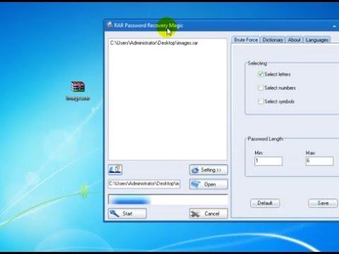 Hướng dẫn khôi phục password file .RAR bằng Rar-Password-Recovery
