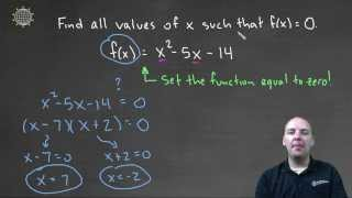 Find x Such That f(x) = 0 [Example 1]