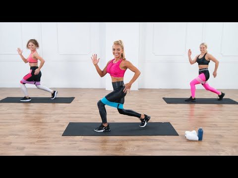 13-Minute Quick Core and Legs Band Workout With Christa DiPaolo