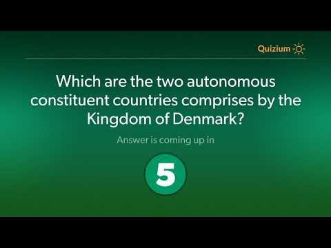 Which are the two autonomous constituent countries comprises by the Kingdom of Denmark?   Denmark Qu