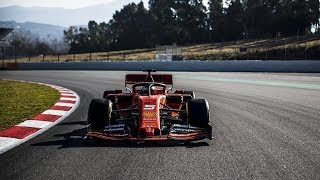 Scuderia Ferrari 2019 F1 Car Sound - Ferrari 2019 F1 Car Testing On Track - Ferrari SF90