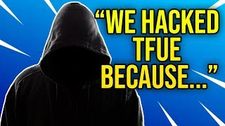 Hackers Explain Why They *HACKED* Tfue on Stream