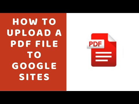 How to Upload a PDF File to Google Sites