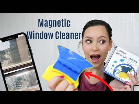CLEANING PRODUCTS YOU DIDN'T KNOW YOU NEEDED! MAGNETIC WINDOW CLEANER