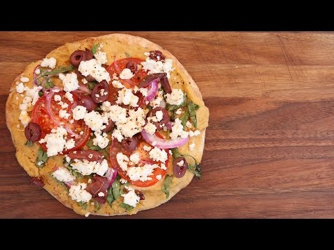 grilled-mediterranean-pita-pizza-recipe-|-vegetarian-bbq