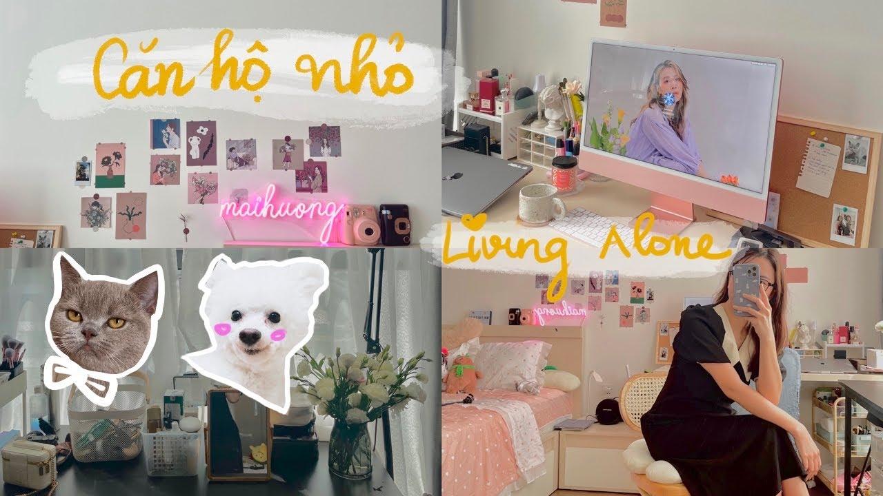 *Living Alone* nhà nhỏ vẫn xinh, một căn hộ nhỏ 25m2 của mìn, nuôi chó, mèo| vì sao không mua nhà