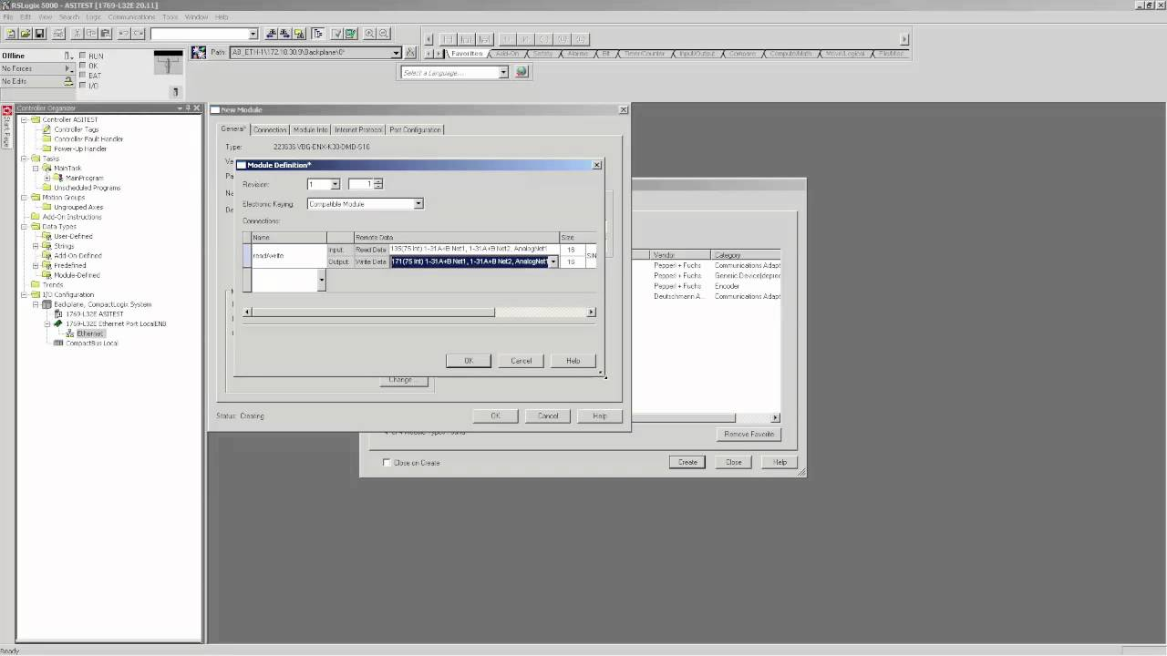 Setup AS-Interface Ethernet/IP Gateway in Allen-Bradley PLC w/ EDS File