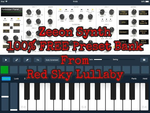 ZEEON Synth Demo of the 100% FREE Red Sky Lullaby Preset Bank