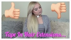 Pros & Cons of Tape In Hair Extensions.