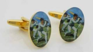 Cricket Cufflinks By orosilber for This IPL Thumbnail
