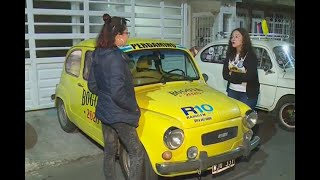 Joven viajó 8.000 kilómetros en un topolino para darle bonita sorpresa a su amiga en Bogotá