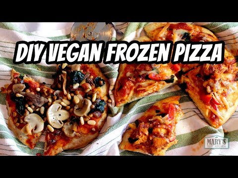 DIY VEGAN FROZEN PIZZA | w/ gluten-free option! | Recipes by Mary's Test Kitchen