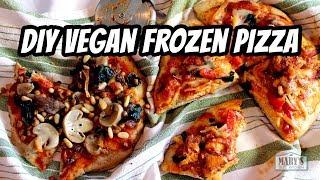 DIY VEGAN FROZEN PIZZA | w/ gluten-free option! | Recipes by Mary