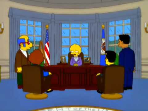 Thumbnail: Lisa Simpson calls Donald Trump Presidency, Increased Debt