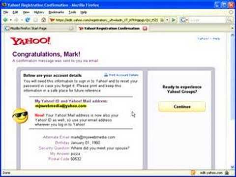Getting a Yahoo! account for Groups