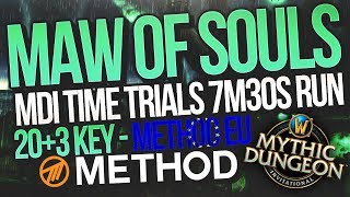 MDI Time Trials 7m30s Maw of Souls 20+3 Mythic+ Method EU | Mythic Dungeon Invitational