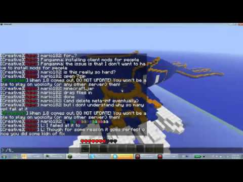 Giant 3d Kyogre Pixel Art Made In Minecraft Woolcity