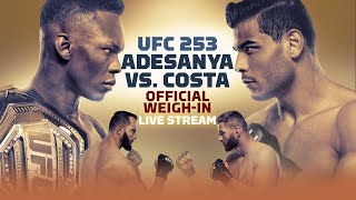 UFC 253: Israel Adesanya vs. Paulo Costa Official Weigh-in Live Stream - MMA Fighting
