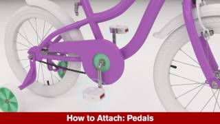 Kid's Bicycle with Training Wheels Assembly Animation