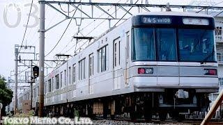 【東京メトロ 03系 廃車回送】臨回 B5674S 03系108F 幕式表示器車両 2019.7.31