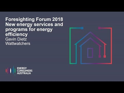 Gavin Dietz, Wattwatchers - New energy services and programs for energy efficiency